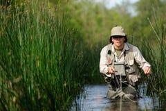 Fly-fishing fotografia stock libera da diritti