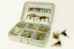 Fly Fishing Box Royalty Free Stock Photos