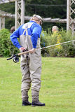 Fly fishing (casting) Stock Photography