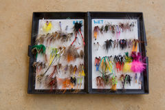 Fly fishing flies Stock Photography