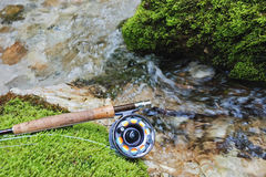 Fly fishing gear Stock Photo