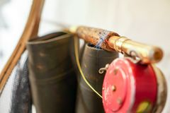 Fishing Gear Ready to Go stock photo