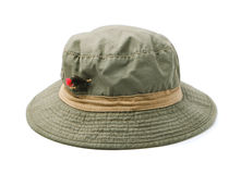 Fly fishing hat Stock Photos