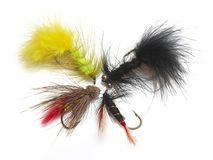Fly fishing hook Stock Photos