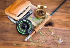 Fly fishing Royalty Free Stock Image