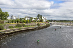 Fly fishing Ireland Stock Photos