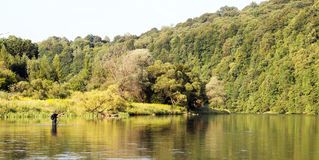 Fly Fishing landscape Stock Images
