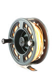 Fly fishing reel Royalty Free Stock Photos