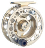 Fly fishing reel Stock Photo