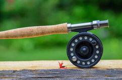 Fly fishing rod and reel Royalty Free Stock Image
