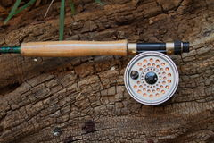 Fly fishing rod and reel Stock Images