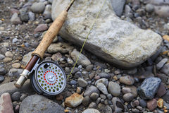 Fly Fishing Rod and Reel Royalty Free Stock Images