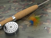 Fly-Fishing Set Stock Photography