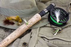 Fly Fishing Still Life Royalty Free Stock Image