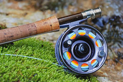 Fly fishing tackle Stock Image