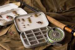 Fly fishing tackle Royalty Free Stock Image