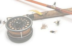 Fly Fishing Web Background stock photos