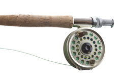 Fly Fishing on white Stock Images