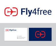 Fly for free logo Stock Image