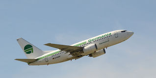 Fly Germania Boeing 737-700 KvW Royalty Free Stock Photos