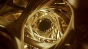 Fly through a Golden tunnel stock video