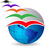 Fly graduation logo Royalty Free Stock Images