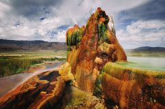 Fly Gyser Nevada. Taken in 2015 royalty free stock images