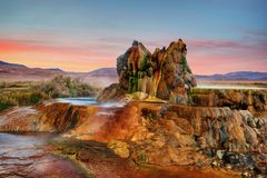 Fly Gyser Nevada. Taken in 2015 royalty free stock photos