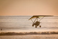 Fly in a Hang gliding in Dominical beach, Costa Rica Stock Photo