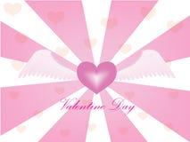Fly heart Stock Image