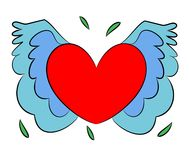 Fly Heart (Vector) Stock Images