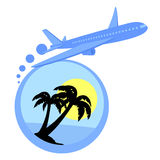 Fly holidays Royalty Free Stock Photography
