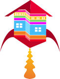 Fly home logo. Illustration art of a fly home logo with isolated background Stock Images