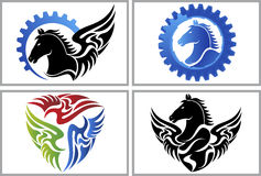 Fly horse logo Royalty Free Stock Image
