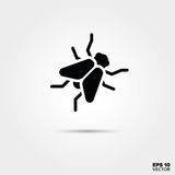 Fly icon. Fly glyph icon. EPS 10 Vector stock illustration