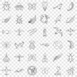 Fly icons set, outline style. Fly icons set. Outline style of 36 fly vector icons for web for any design vector illustration