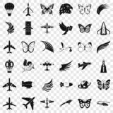 Fly icons set, simle style. Fly icons set. Simple style of 36 fly vector icons for web for any design vector illustration