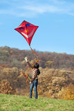 Fly a kite Stock Images