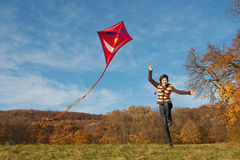 Fly a kite stock photos