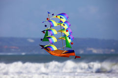 Fly a kite. A sailing vessel in the sky Stock Photography