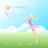 Fly a kite. Royalty Free Stock Photos