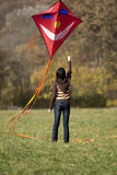 Fly a kite Royalty Free Stock Photography