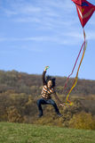 Fly a kite Royalty Free Stock Photos