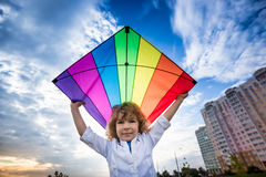 Fly a kite royalty free stock image