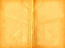 Fly-leaf of old book. Fly-leaf of old yellowed book.Background Royalty Free Stock Photography