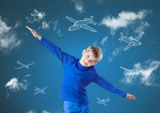 Fly like airplane Stock Photography