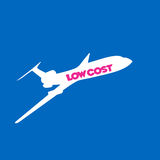 Fly low cost airline background royalty free illustration