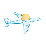 Fly lowcost airplane vector Stock Photo