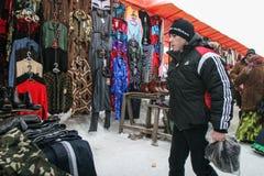 Fly marknaden i vinter Fotografering för Bildbyråer