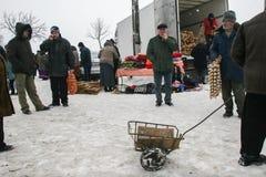 Fly marknaden i vinter Royaltyfri Foto
